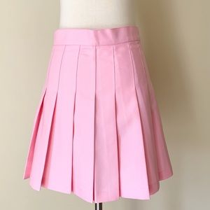 American Apparel Pink Gabardine Tennis Skirt